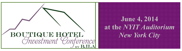 Boutique Hotel Investment Conference June 4 in New York City