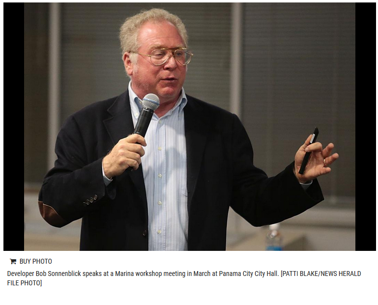 """... this empty, fallow, unused marina property, and I look and I see this  opportunity there,"""" marina project developer Bob Sonnenblick told The News  Herald."""