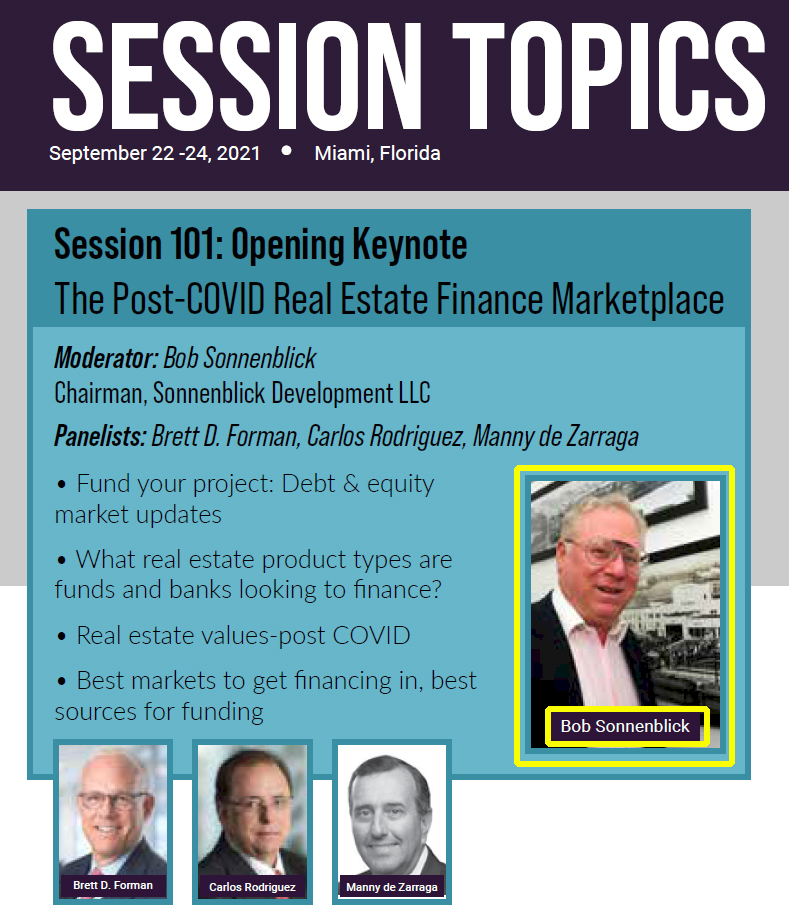 Session 101: Opening Keynote The Post-COVID Real Estate Finance Marketplace