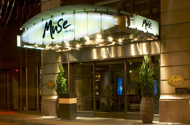 The 200-room Muse Hotel in New York reports a positive impact on bottom line due to going green. (Photo: Kimpton Hotels)