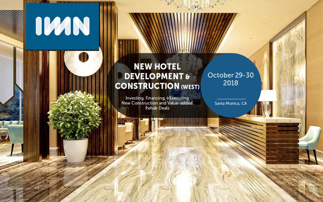 Bob Sonnenblick to Moderate IMN Real Estate Conferences OCT 29-30 2018
