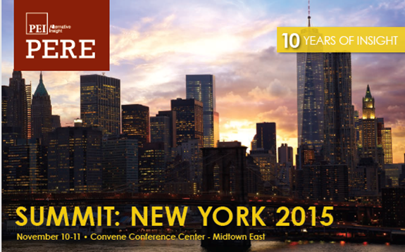 Robert Sonnenblick, Chairman of Sonnenblick Development LLC, has been chosen to moderate a panel: PERE Real Estate Summit in NY Nov 12 2015