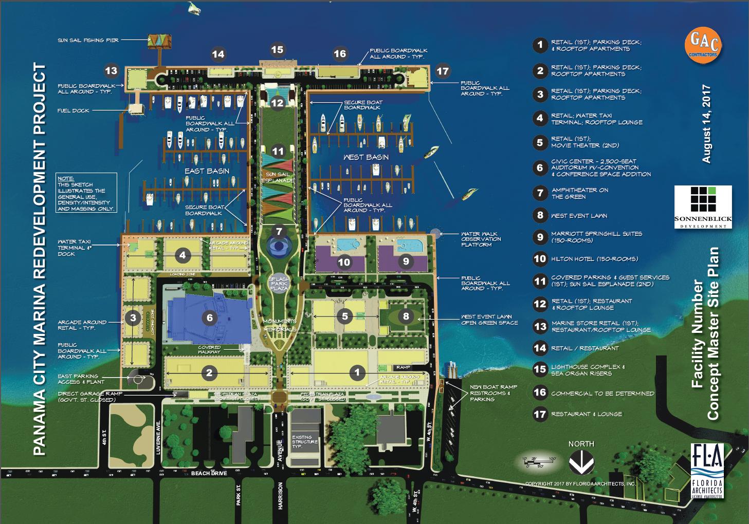 Boca Raton Shopping >> Sonnenblick Development: Latest concept plan for Panama City Marina