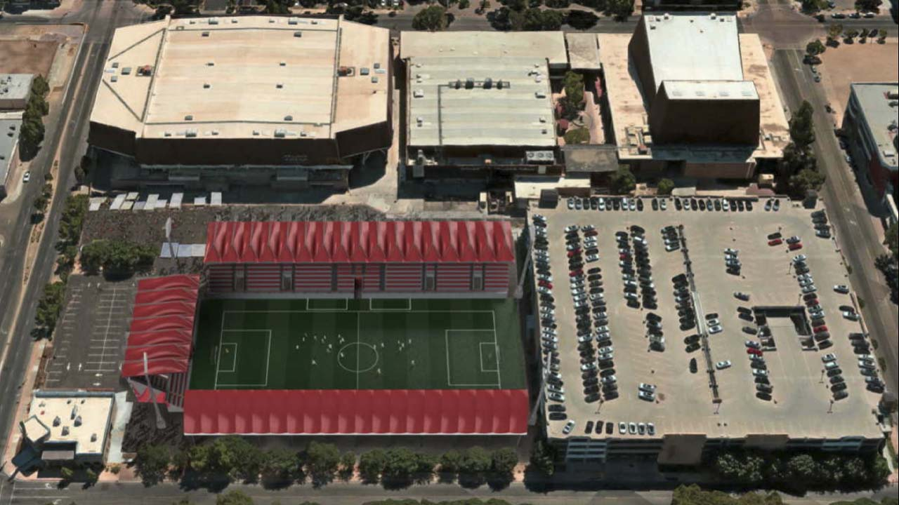 Am illustration of how the Fresno Fuego would use Selland Arena (Image: City of Fresno)