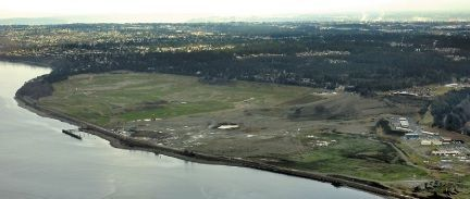 This 2007 photo shows the Chambers Creek Properties site, including Chambers Bay golf course. A developer proposes to build a second course and a resort hotel on the site.