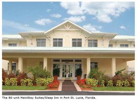 The 80-unit MainStay Suites/Sleep Inn in Port St. Lucie, Florida.