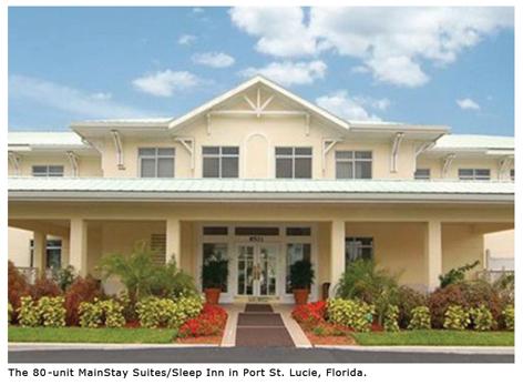 The 80-unit MainStay Suites/Sleep Inn in Port St. Lucie, Florida.